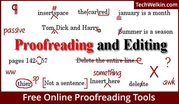 Proofreading or editing service