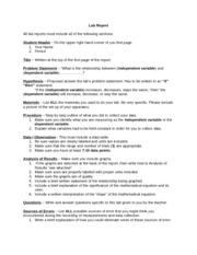 Custom lab reports