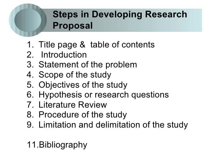 Research proposal for phd in pharmacology